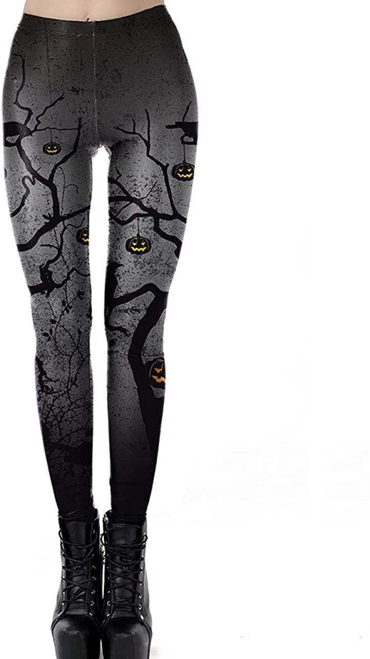 ハロウィン レギンス プリント 黒 ゴシック ロック コスプレ 衣装 仮装 美脚 かぼちゃ(XL)