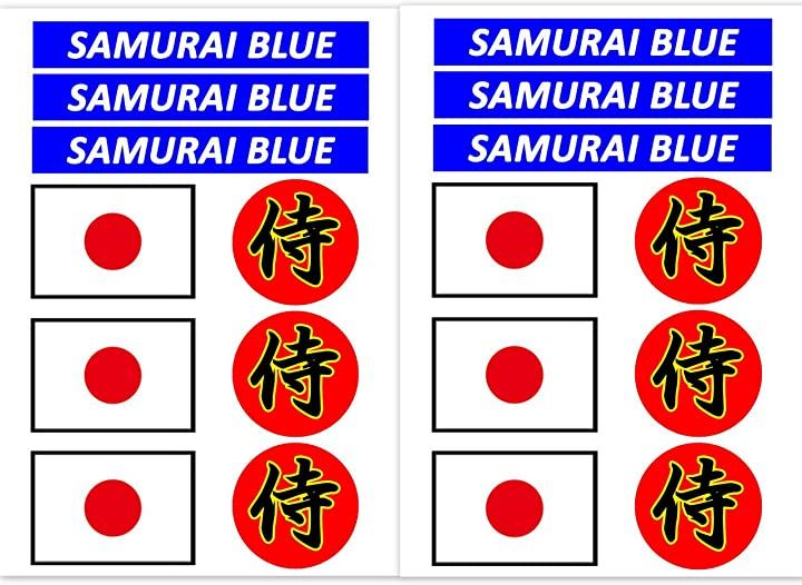 2分で準備。 ワールドカップ サッカー 日本代表 フェイスシール 1枚or2枚 選択可能。 日の丸 日本国旗 3種18枚[6374](2枚(3種18枚), 8.5×12cm)