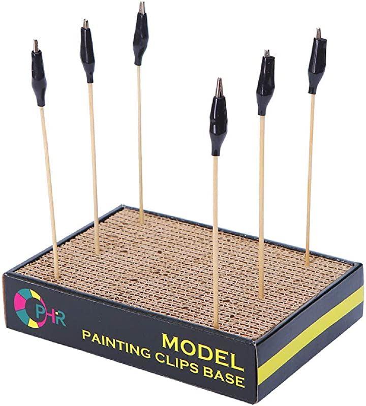 塗装ベース & 塗装棒 20本セット プラモデル フィギュア パーツ スタンド 乾燥作業 ペイント