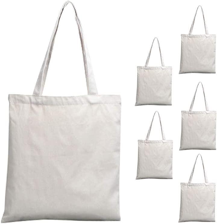 帆布 トートバッグ 手提げ袋 無地 5枚セット(ナチュラル)