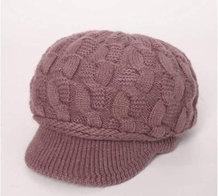 裏起毛 あったか ニット帽 キャップ レディース(E50.0-65.0 cm)
