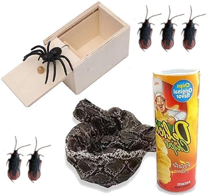 面白グッズ 笑えるプレゼント ビックリ箱 おもちゃセット ゴキブリ5匹付き