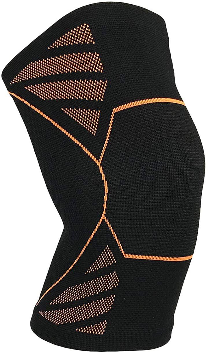 サポーター 膝 スポーツ ランニング 膝あてひざ用 男女兼用オレンジ M 2枚入り(オレンジ, M 2枚入り)