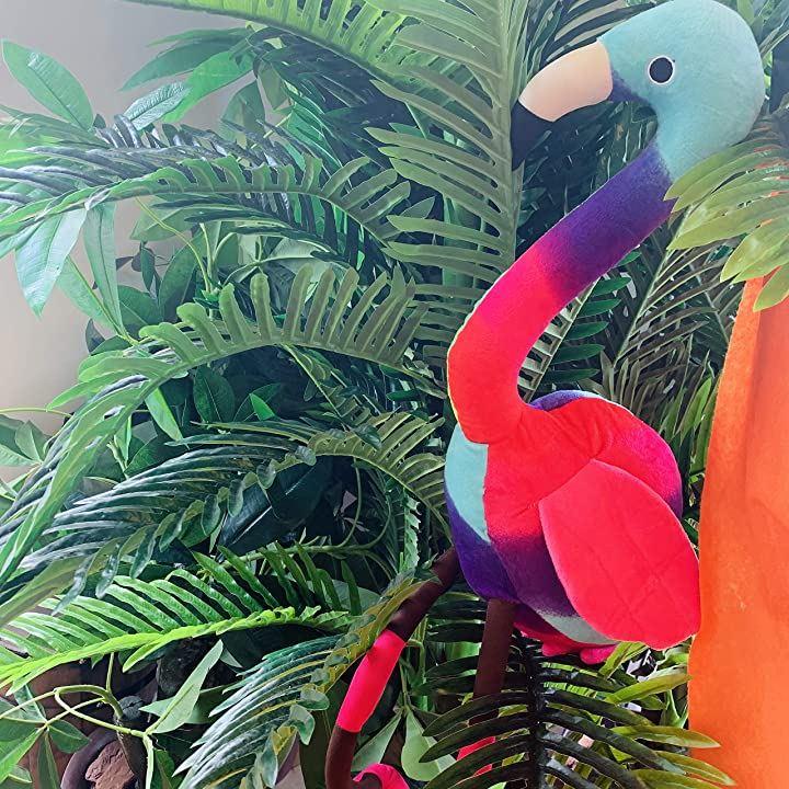 おもちゃ 動物ぬいぐるみ おすわり フラミンゴ 南国風 カラフル ギフト プレゼント 雑貨