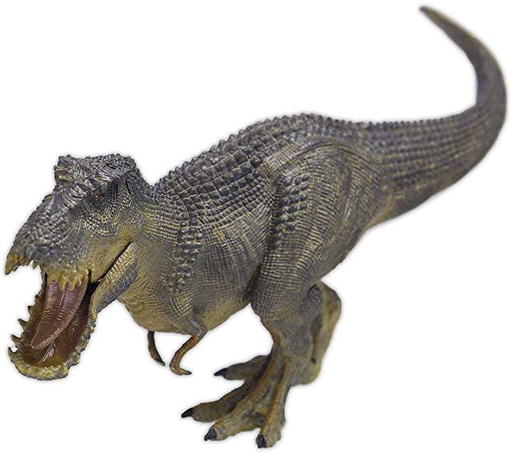 KICHIBEI ティラノサウルス 恐竜 フィギュア リアル設計 模型 大迫力 両足自立 口開閉 おもちゃ 全長35.5cm