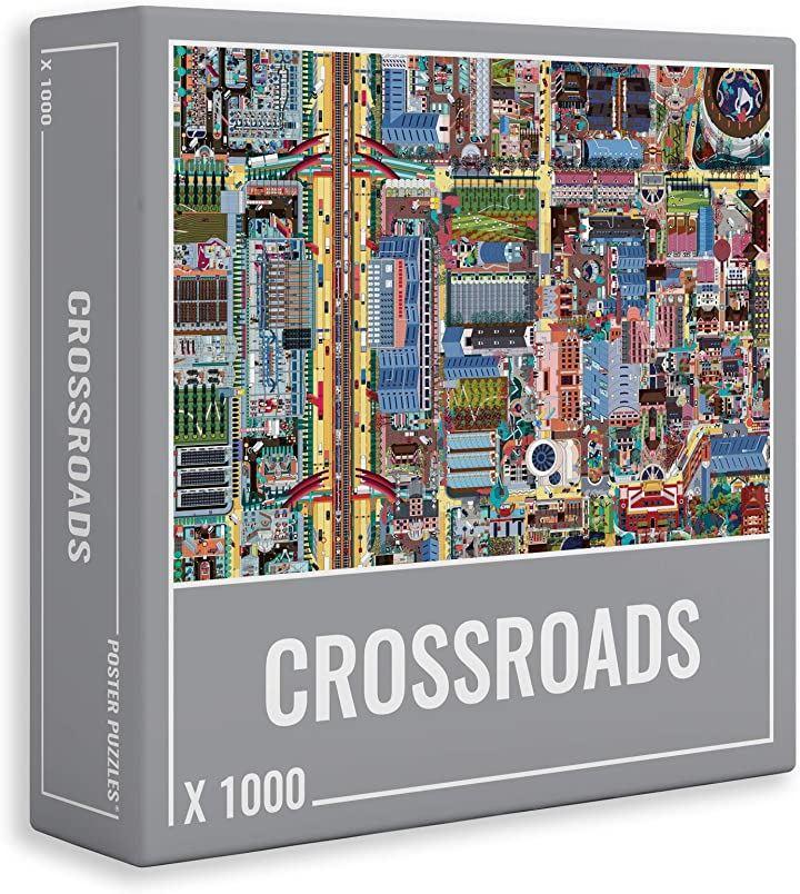 クラウドベリーズ 都市計画 ジグソーパズル 美しい緻密なマップ 大人向け 1000ピース(68x48.5cm)
