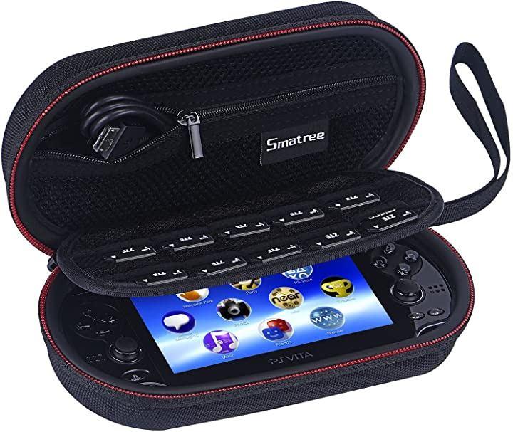 PS Vita PS1000 2000 PSP3000とアクセサリー用 ストレージケース P100 7.8x 4.4x 2.4 インチ(Black)