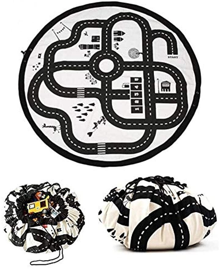 おもちゃ 収納袋 マット おりたたみ おままごと プレイマット 片づけ 便利 簡単 ロードマップ