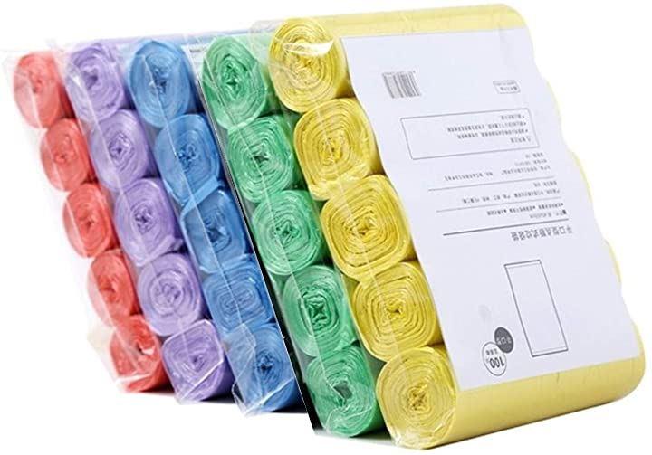 ビニール袋 ロール ポリ袋 ごみ袋 オムツ処理袋 カラー 半透明 レジ袋 25L 5色 500枚 セット