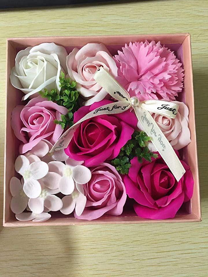 ソープフラワー ボックス ギフト メッセージカード付き 造花 枯れないお花 プレゼント 贈り物