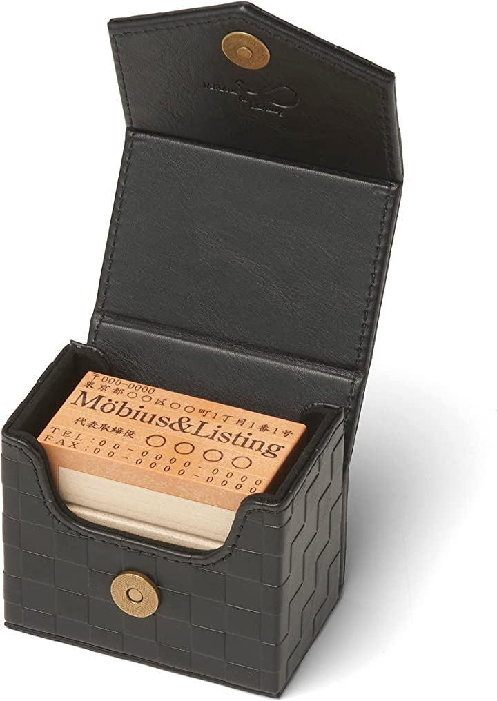 ゴム印ケース 単品 収納 ボックス 印箱(ブラック, 横9cmx縦5.6cmx高さ7.4cm)