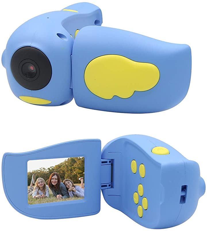 子供用カメラ トイカメラ 2.0インチ 1080P HD録画 4倍ズーム 高画質 タイマー撮影 MP3 &ゲーム機能付き USB充電 プレゼント 青(青)