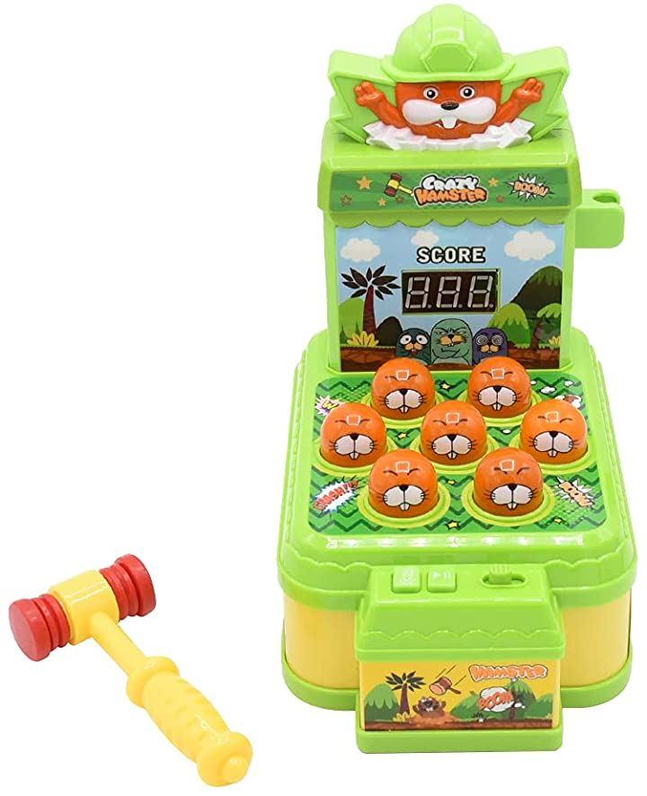 AINetJP モグラたたき もぐら叩きゲーム おもちゃ 点数表示 音量調節 ピコピコハンマー付属