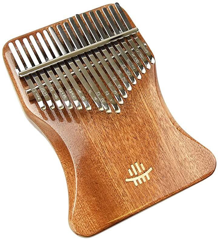 カリンバ 打楽器 親指ピアノ ローズウッド 17音 キーステッカー 調整ハンマー クロス 収納ケース付き