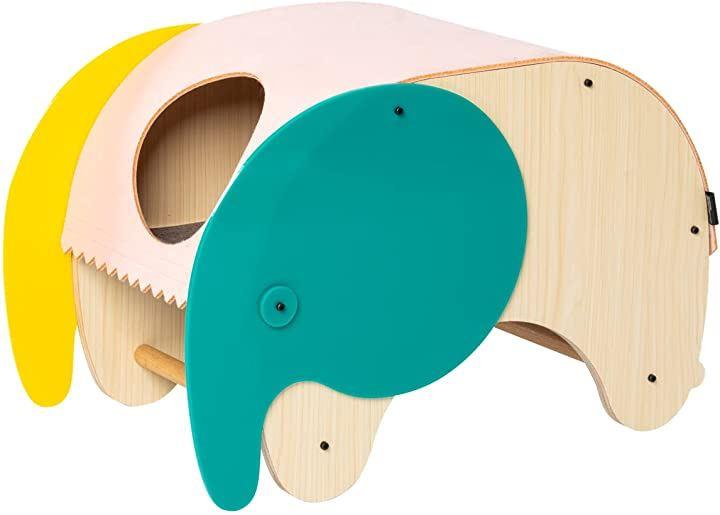 猫 ベッド ペットベッド レクタングル 洗える 木製 象と鶏タイプ(象と鶏タイプ)
