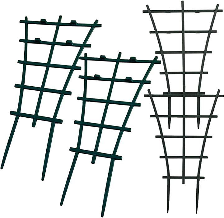 植物支柱 植物サポートフレーム 杭 ステーク 園芸支柱 花ささえ ミニトレリス 4個セット