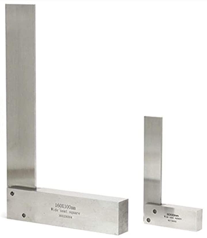 台付スコヤ ケガキゲージ 2個セット 16cm 8cm 定規 直角 diy 直角定規 工具