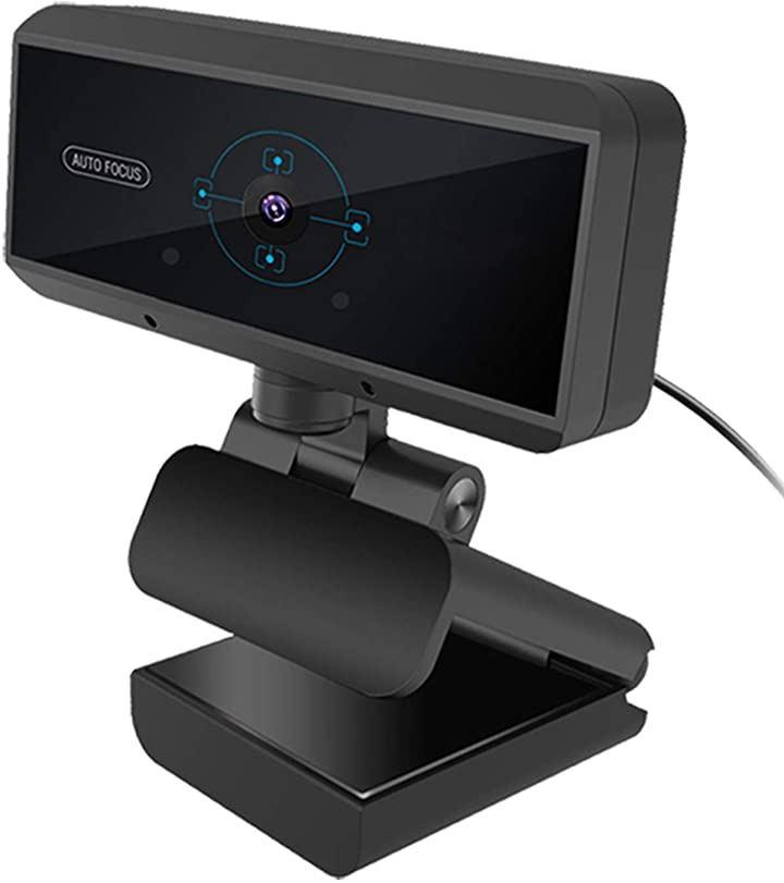 2020年新型ウェブカメラ Webカメラ フルHD 1080P 30FPS 500万画素 高画質 マイク内蔵 ステレオマイクノイズキャンセリング機能(ブラック)