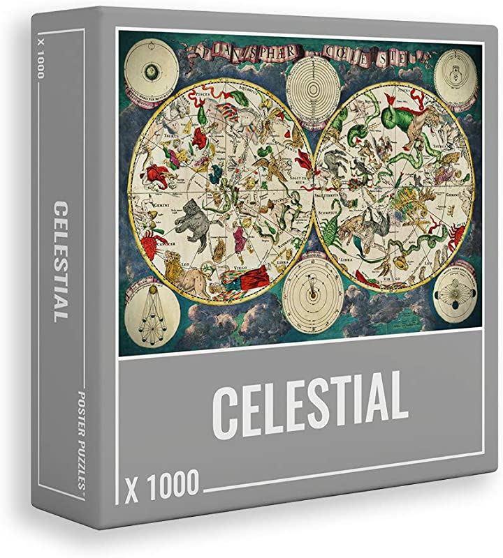 クラウドベリーズ ジグソーパズル 天球図 1000 ピース 大人用(約68センチx 48.5センチ)