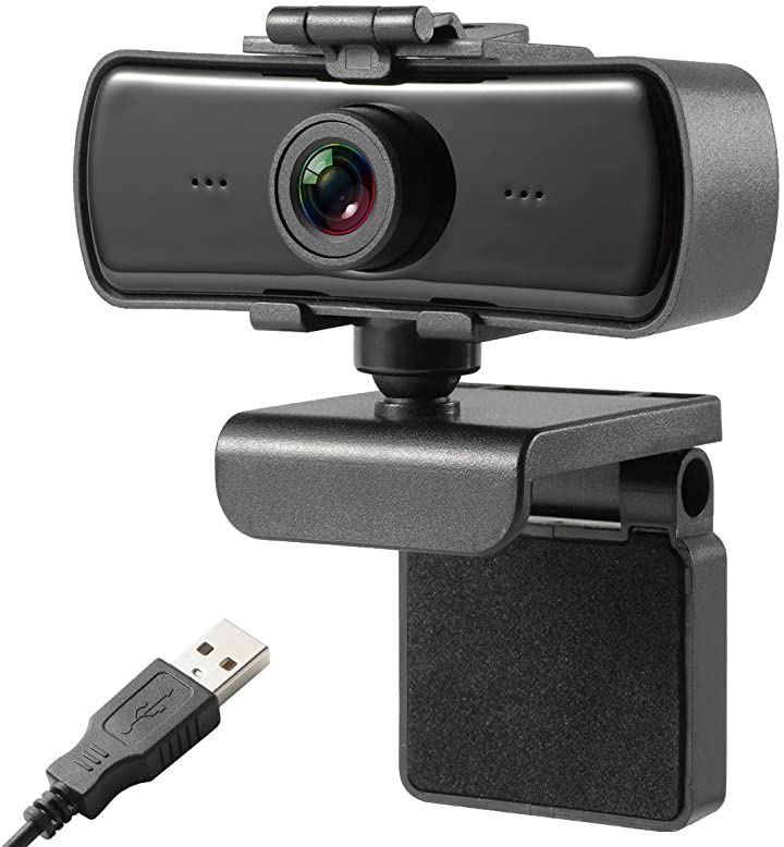 ウェブカメラ PCカメラ テレワーク リモートワーク オンライン会議に必須 400万画像 2k高画質 オートフォーカス マイク内蔵 ノイズ低減 上下角度調整可 在宅勤務 動画配信