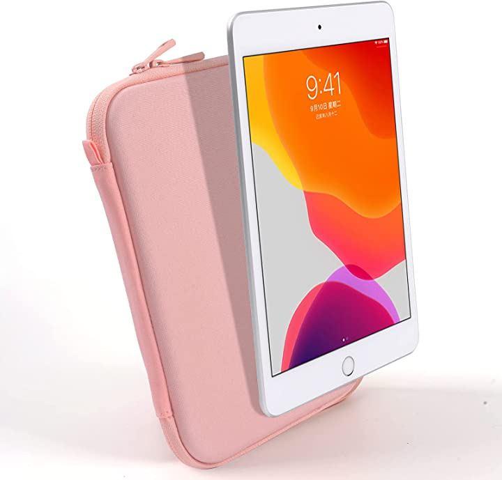 7.9インチ タブレットスリーブ pencil収納可能 タブレット収納ケース 防水 耐衝撃 ピンク(Pink)