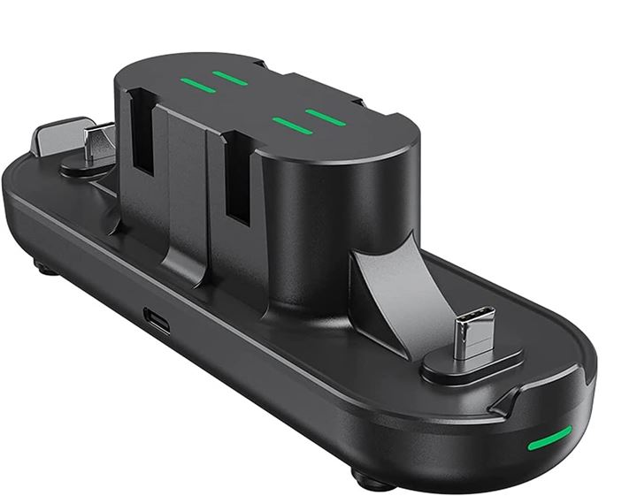 6in1 PS5コントローラー/Proコン2台&Joy-Con4台同時充電 充電スタンド Type-Cケーブル付き(Black)
