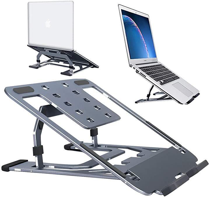 2020年最新版ノートパソコンスタンド PCスタンド アルミニウム製 滑り止め Macbook | NEC 東芝 DELL ASUS Lenovo SONYなど 16インチまで対応